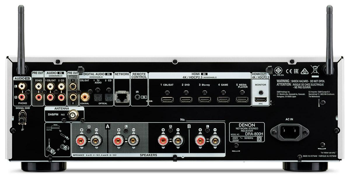 Denon DRA-800 – Hi-Fi sztereó hálózati erősítő Heos-szal, Denon Store